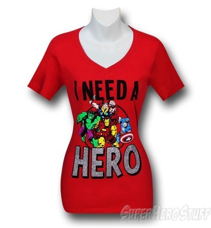 """I need a hero"" t-shirt"