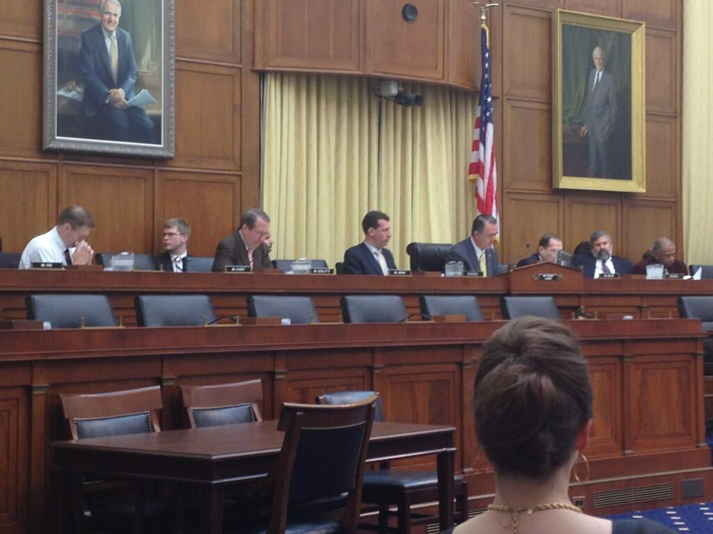 several male Congressman at hearing