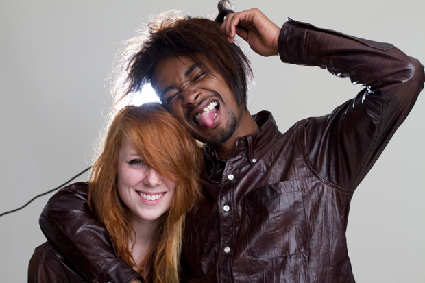 Kitty Pryde, left, with Danny Brown