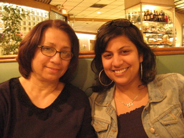 """Chilling at the diner with Moms."" -- Samhita"