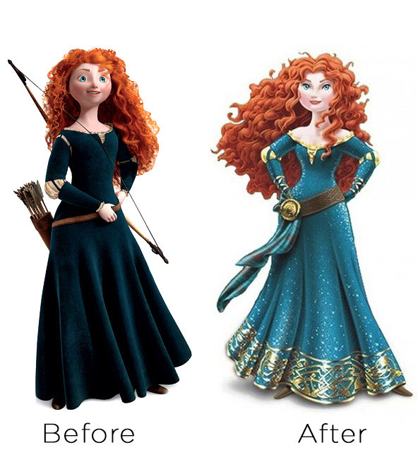 Brave princess before and after