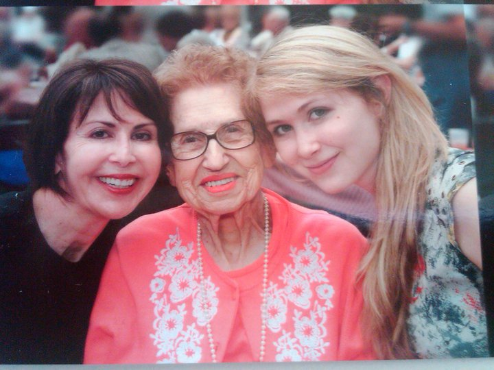 """My mom, her mom, and me--showing off our identical cheeks."" -- Alexandra"