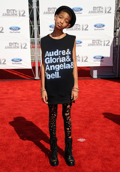 Willow rocks T-shirt nodding feminist icons including Angela Davis and bell hooks