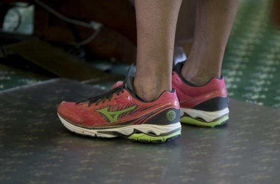 Wendy Davis' pink shoes