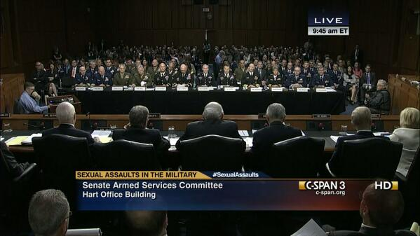 Senate committee hearing on military sexual assault with mostly men