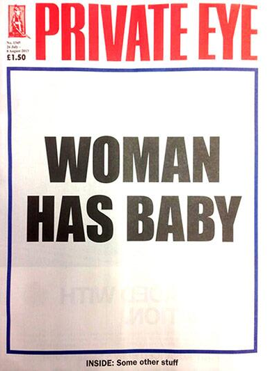 Royal Baby front page