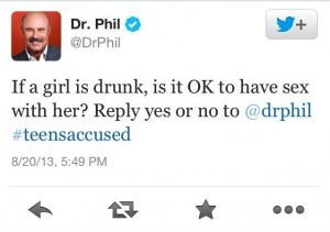 Dr. Phil's tweet