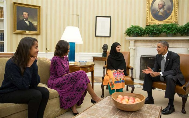 Malala meeting with the Obamas