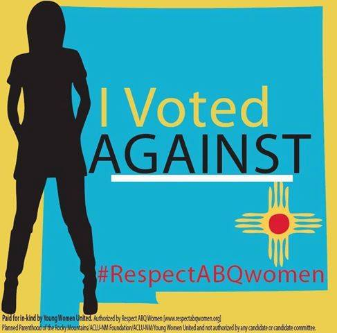 I voted against image from Respect ABQ Women