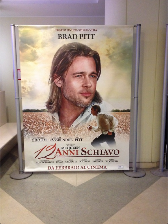Brad Pitt ad for 12 Years a Slave