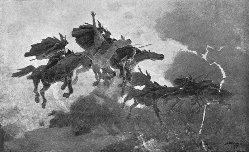 The Ride of the Valkyrs, John Charles Dollman, 1909.