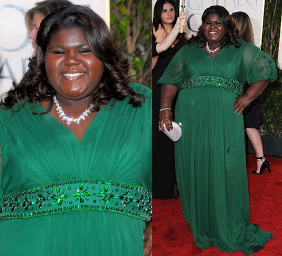 Gabby Sidibe at Golden Globes