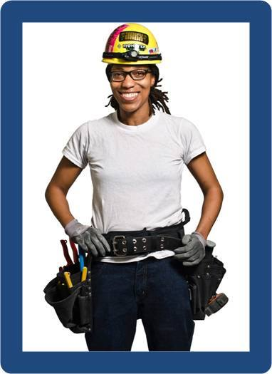black woman construction worker