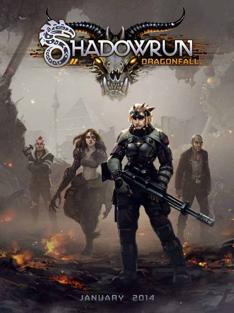 Women to the front: Shadowrun-Dragonfall's cover art. At the heart of its widely available marketing are its two lead female character: Eiger, the Troll soldier, and Glory, the cybernetically enhanced combat medic.