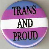 trans and proud button