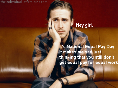 Ryan Gosling is sad about the pay gap