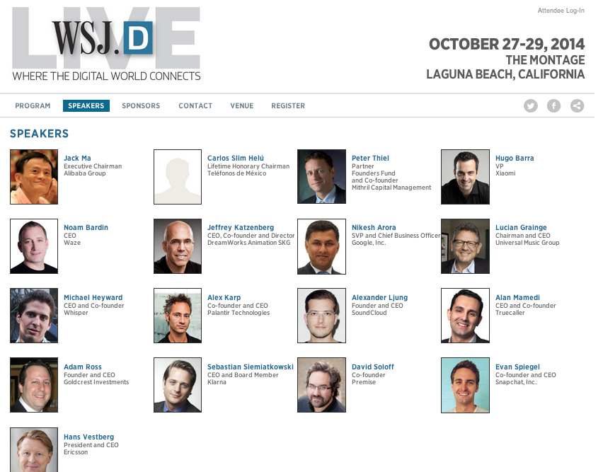 WSJD Live conference all male speakers