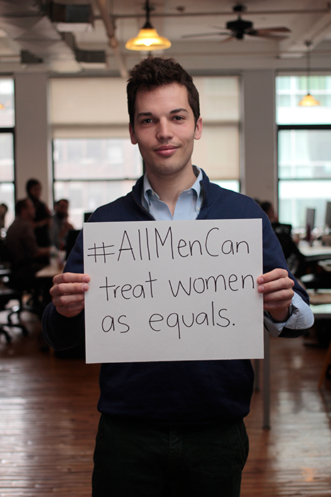 #allmencan treat women as equals