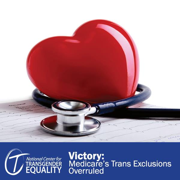 A heart and a stethascope. Victory: Medicare's Trans Exclusion Overruled