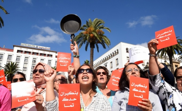 moroccan women protesting