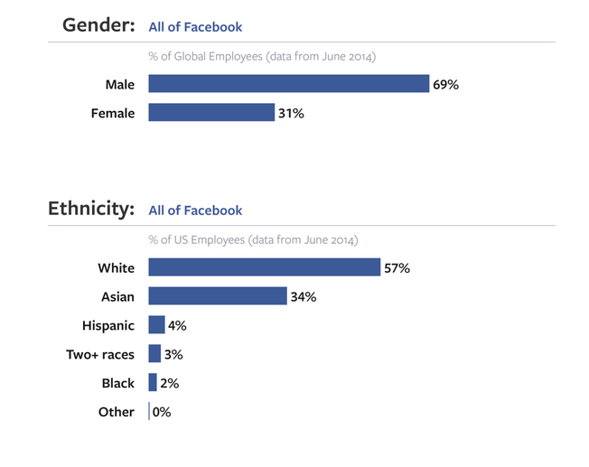 facebook diversity charts