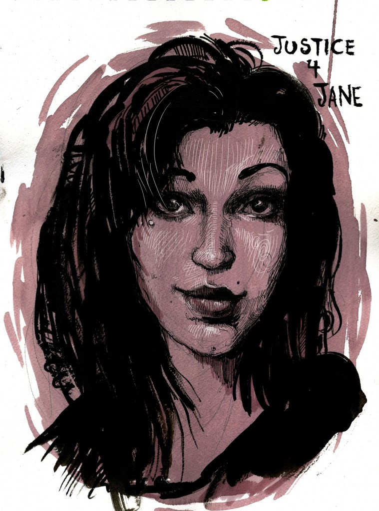 Jane Doe, portrait by by Molly Crabapple http://mollycrabapple.com/