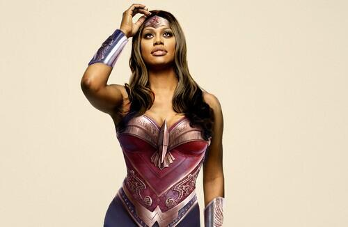 Laverne Cox as Wonder Woman. Dear Hollywood: stop sucking and make this happen please. Image via.