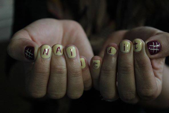 Nails that have spelled out Nailed It