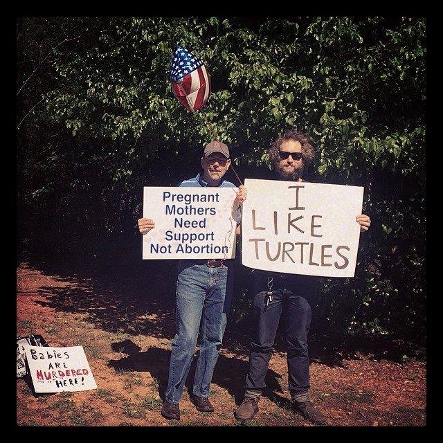 New Favorite Tumblr: Counter-protesting anti-choice protestors