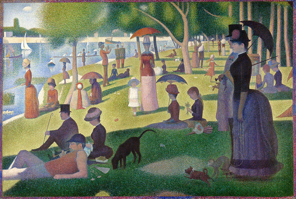 (A Sunday Afternoon on the Island of La Grande Jatte. Georges-Pierre Seurat 1884)