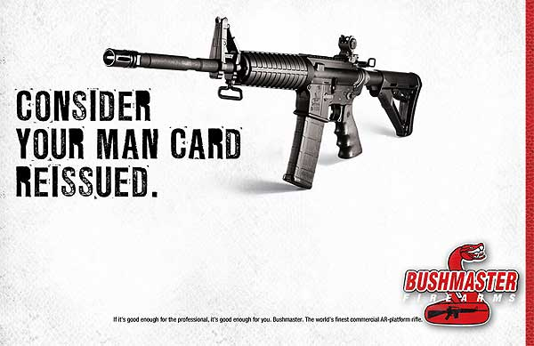 Fun fact, you could enter a Bushmaster sponsored contest to get a bona fide Man Card.