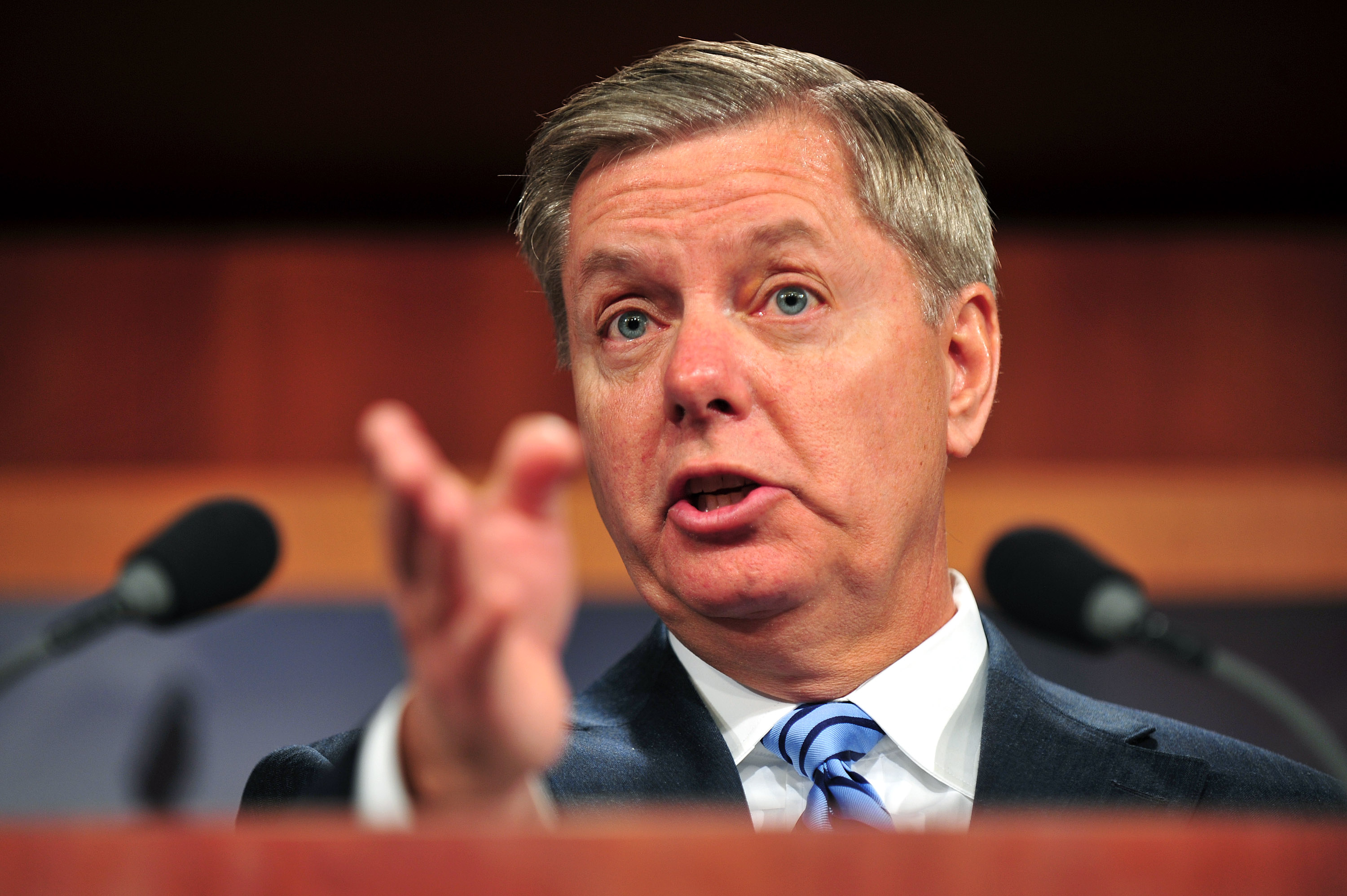Sen. Lindsey Graham speaks on repealing the health care law in Washington